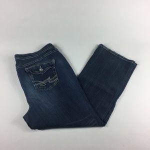 Dark Wash Plus Size Boot Cut Jeans